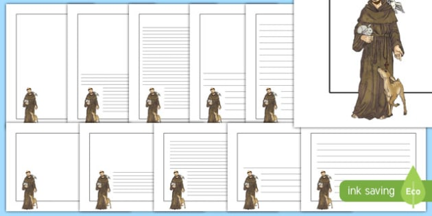 Saint Francis of Assisi Page Border Pack