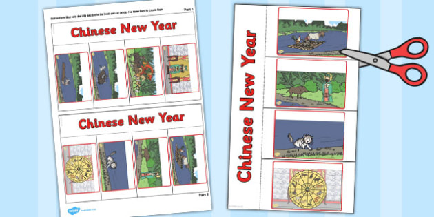 Chinese New Year Writing Flap Book - flap book, chinese new year