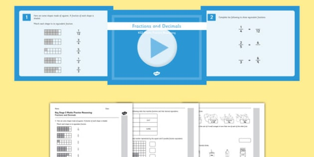 KS2 Reasoning Test Practice Fractions and Decimals Resource Pack - Key Stage 2, Reasoning Test, Practice, Fractions, Decimals, Percentages, Year 6