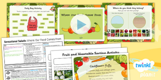 D&T: Sensational Salads: Where Our Food Comes From KS1 Lesson Pack 1