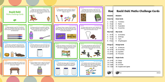 KS1 Roald Dahl Maths Challenge Cards