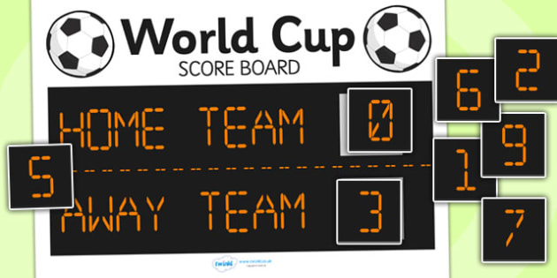 Football World Cup Role Play Scoreboard - football, world cup