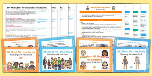 All About Me Ourselves Discovery Sack Plans and Resources Pack - Early Years, KS1, all about me, ourselves, discovery sacks