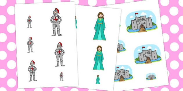 Castles and Knights Size Ordering - australia, size, ordering