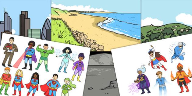 Superhero Small World Pack - superhero, small world, pack, hero