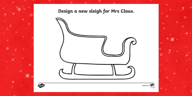 A New Sleigh for  Mrs Claus Activity Sheet - M&S Christmas, Marks, Spencers, Advert, Mrs Christmas, Mrs Claus, worksheet