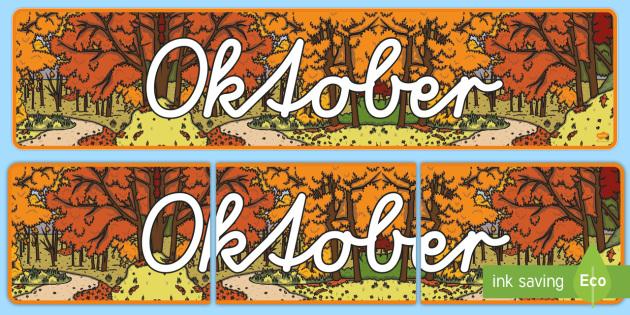 Oktober Display Banner German - german, october, display banner, display, banner