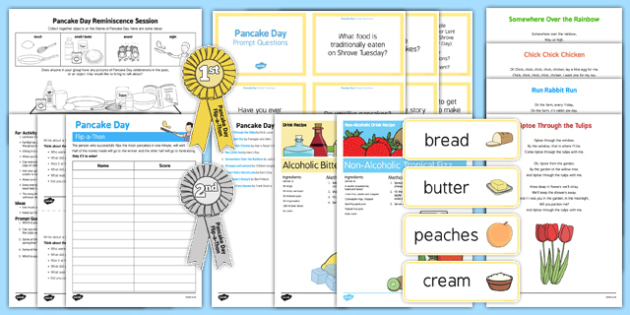 Adult Education Pancake Day Resource Pack - Elderly, Reminiscence, Care Homes, Pancake Day