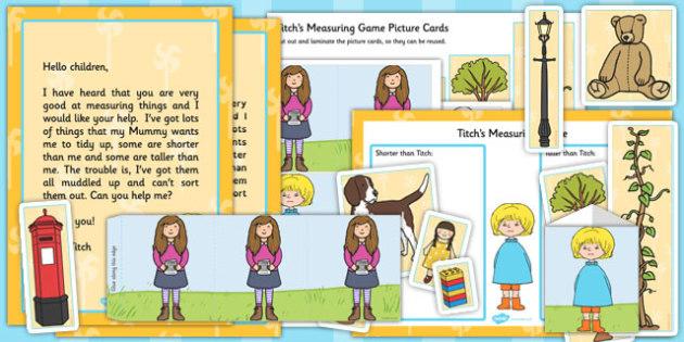 Titch Measuring Game Pack - titch, measuring, game, pack, measure