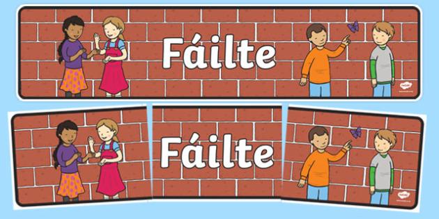 Fáilte Display Banner