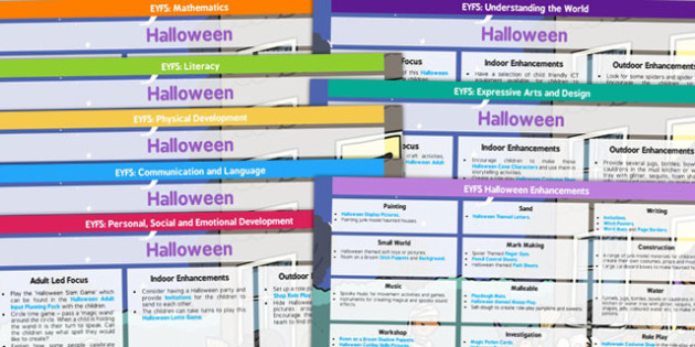 EYFS Halloween Lesson Plan and Enhancement Ideas - halloween, lesson plan, ideas