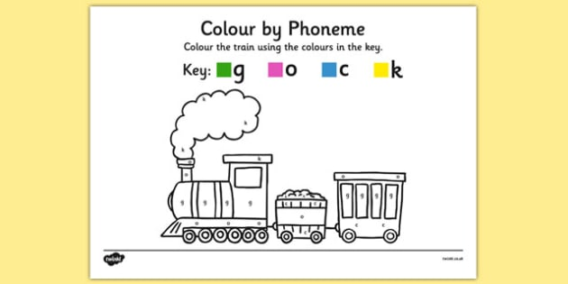Colour by Phoneme Train Phase 2 g o c k - colour, phonemes, train, phase 2, satpin
