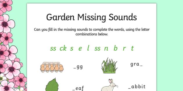 Spring Missing Sounds Worksheet - spring, phase 2, phases
