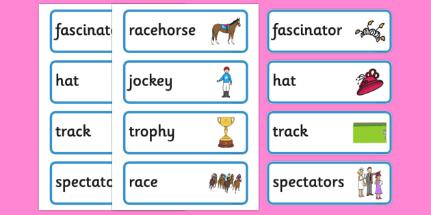 The Melbourne Cup Word Cards - australia, melbourne cup, word cards