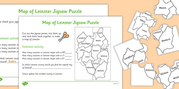 Map of Leinster Jigsaw Puzzle - roi, irish, republic of ireland, map, leinster, jigsaw, puzzle