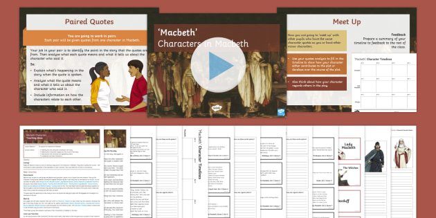 a description of the change of character of macbeth in the play macbeth by shakespeare Character of lady macbeth in the course of this essay i will discuss the character of lady macbeth and the change in her character throughout the play macbeth by william shakespeare.