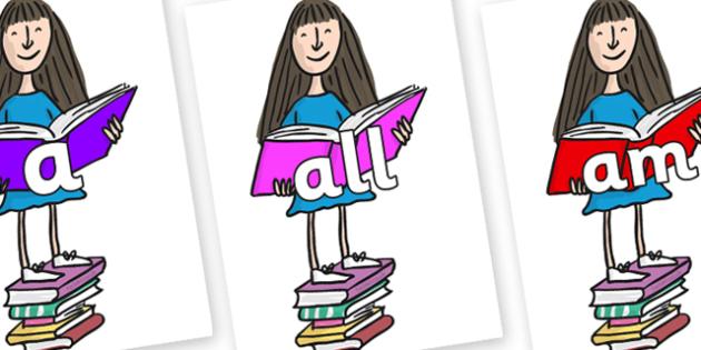 Foundation Stage 2 Keywords on Matilda to Support Teaching on Matilda - FS2, CLL, keywords, Communication language and literacy,  Display, Key words, high frequency words, foundation stage literacy, DfES Letters and Sounds, Letters and Sounds, spelli