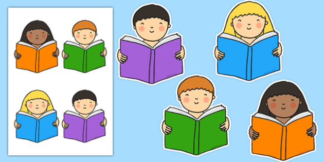 Reading Cut Outs - reading, read, cut outs, cut, outs, display, display cut outs