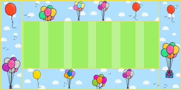 Balloon Display Borders - balloon, display borders, display