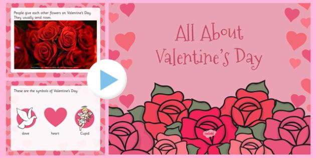 All About Valentine's Day PowerPoint - valentine, love, cupid