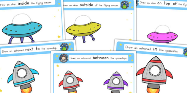Alien Positional Language Worksheets - australia, worksheets
