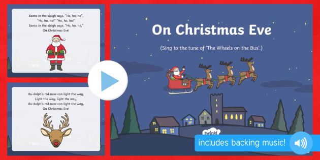On Christmas Eve Song PowerPoint