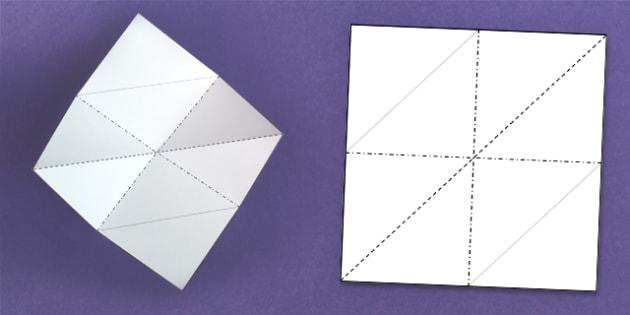 Expanding Diamond Fold - expanding, fold, diamonds, activity