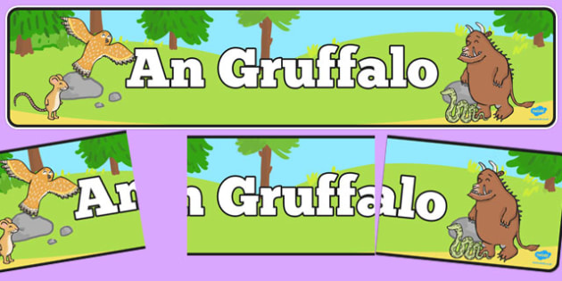 The Gruffalo Display Banner Scottish Gaelic - Scottish, Julia Donaldson