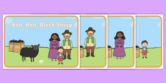 Baa, Baa, Black Sheep Story Sequencing Cards