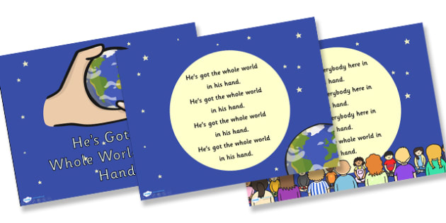 He's Got the Whole World in His Hands Hymn Lyrics PowerPoint - hes got the whole world in his hands, hymn, hymn lyrics, powerpoint, lyrics powerpoint