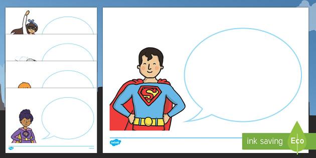 Superhero Themed Speech Bubble Activity - superhero, superheroes, speech bubble, activity