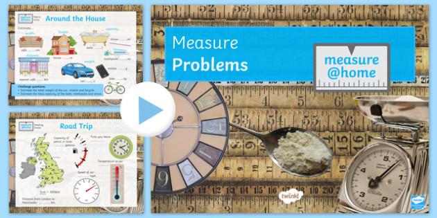 Measure at Home Measure Problems GCSE Grades 1-3 PowerPoint