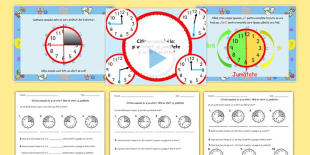 Unități de măsură pentru timp - Pachet cu materiale - unități de măsură, timp, ceas, oră, pachet, materiale, materiale, materiale didactice, română, romana, material, material didactic