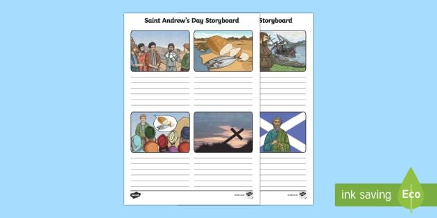 KS2 Saint Andrew's Day Storyboard Template-Scottish