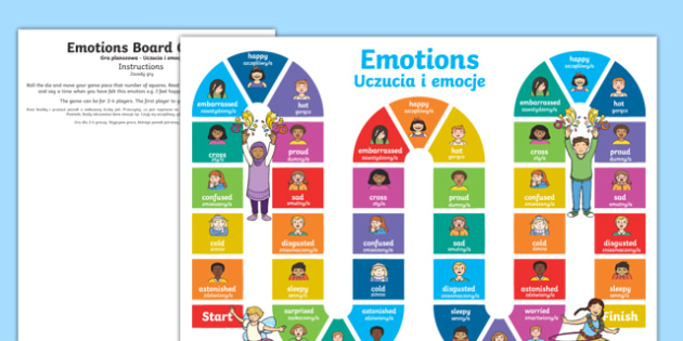 Emotions board game English Polish/English