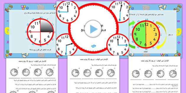 عرض بوربونت مع أسئلة عن الإخبار عن الوقت - الوقت، الساعة، الزمن, worksheet