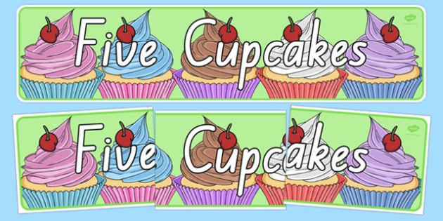 Five Cupcakes Display Banner - nz, new zealand, five cupcakes, display banner, display, banner