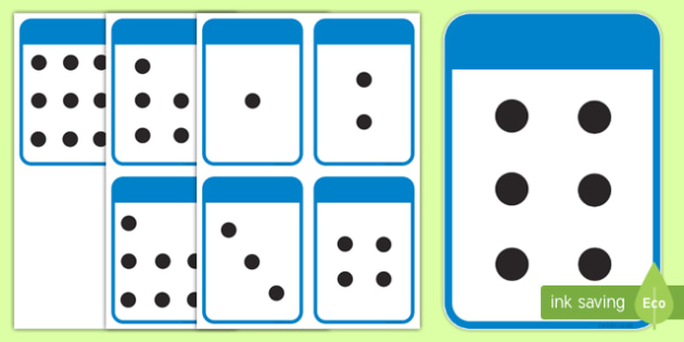 Count the Spots Activity Cards (1-10) - Maths, Math, spots, dots, counting, Counting on, Counting back, counting card, counting activity, one to one counting, flashcard, matching cards