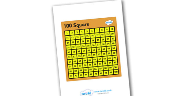 100 Square for Visually Impaired - 100, square, 100 square, visually, impaired, visually impaired, numbers square, numberacy, maths, counting