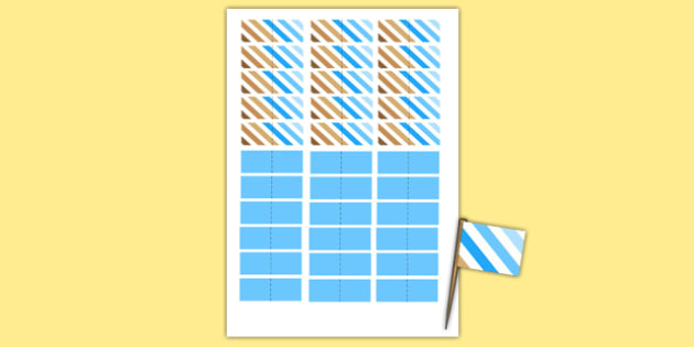 Baby Shower Toothpick Flags Blue Themed - baby shower, baby, shower, newborn, pregnancy, new parents, toothpick flags