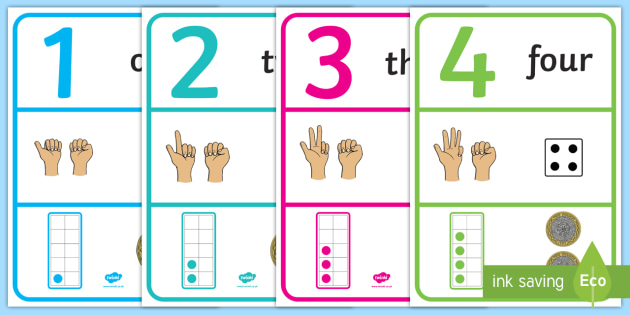 Visual Number Line with Tens Frames Display Posters 1-30 - visual, number line, numberline, tens frames, display, posters