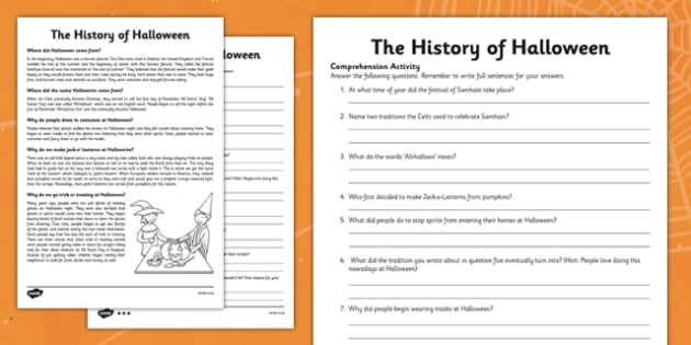 The History of Halloween Differentiated Reading Comprehension Activity - roi, republic of ireland, ireland, history, halloween