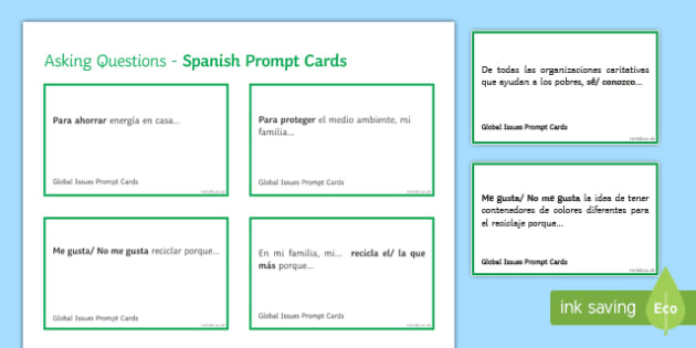 General Conversation Global Issues Question Prompt Cards