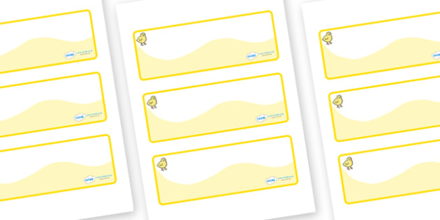 Chicks Themed Editable Drawer-Peg-Name Labels (Colourful) - Themed Classroom Label Templates, Resource Labels, Name Labels, Editable Labels, Drawer Labels, Coat Peg Labels, Peg Label, KS1 Labels, Foundation Labels, Foundation Stage Labels, Teaching L