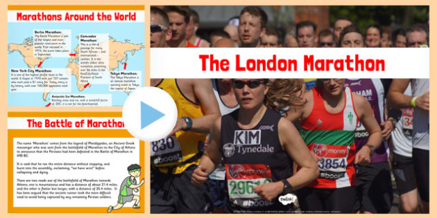 The London Marathon PowerPoint - london, marathon, powerpoint