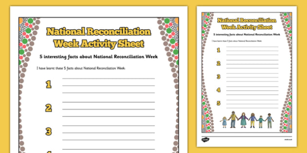 5 Facts about National Reconciliation Week - australia, National Reconciliation Week, activity, worksheet, facts