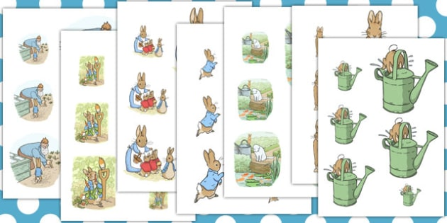 The Tale of Peter Rabbit Size Ordering - peter rabbit, size ordering