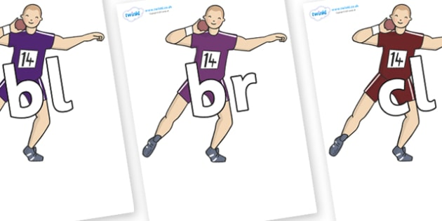 Initial Letter Blends on Shot Put - Initial Letters, initial letter, letter blend, letter blends, consonant, consonants, digraph, trigraph, literacy, alphabet, letters, foundation stage literacy