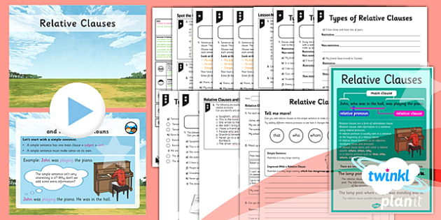 PlanIt Y5 SPaG Lesson Pack: Relative Clauses - GPS, spelling, grammar