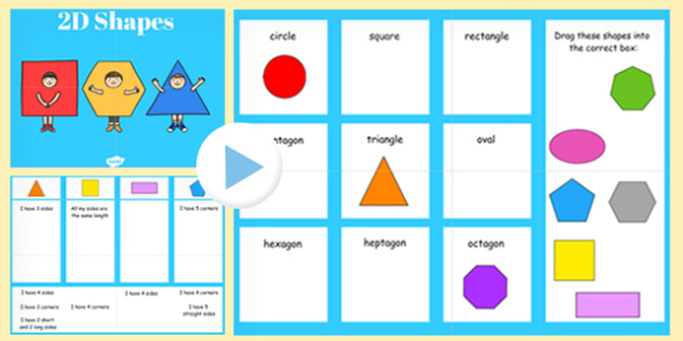 Properties Of 2d Shapes Sorting Activity Smart Notebook